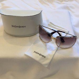 BRAND NEW YVES SAINT LAURENT Gold Wrap Sunglasses.